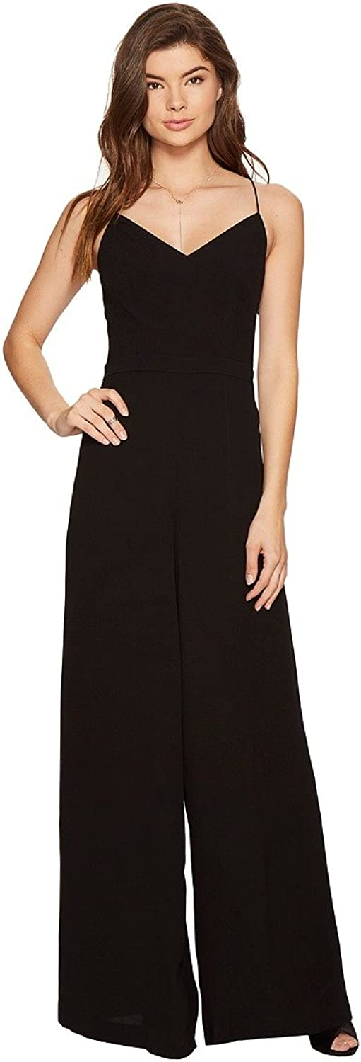 1.State Womens LaceUp Wide Leg Jumpsuit Black 8