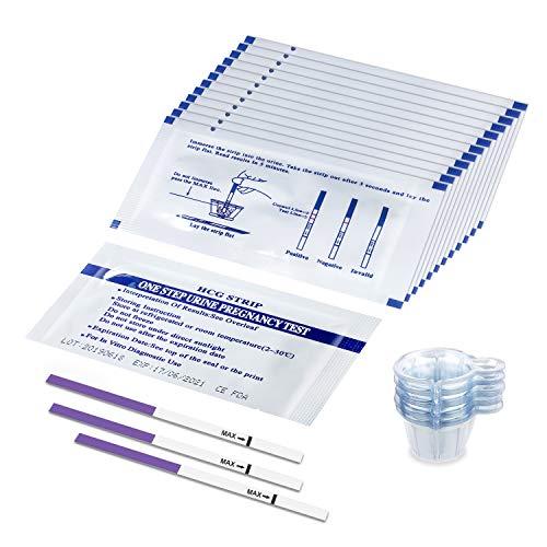 50 x 10miu/ml Ultraempfindlicher Schwangerschaftstest Frühtest Streifen Teststreifen PT800