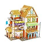 TOYANDONA Miniatur Puppenhaus Kit DIY 3D Puzzle Puzzle Montieren Hausbau Modell Hände Handwerk...