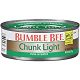 BUMBLE BEE Chunk Light Tuna In Water, Wild Caught, High Protein Food,...