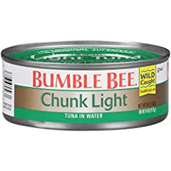 BUMBLE BEE CANNED TUNA: Light and chunky, BUMBLE BEE Chunk Light Tuna In Water is the perfect tuna for sandwiches and casseroles QUALITY IN EVERY CAN: This pack of 24, 5 ounce cans of BUMBLE BEE Premium Chunk Light Tuna in Water will satisfy you and ...