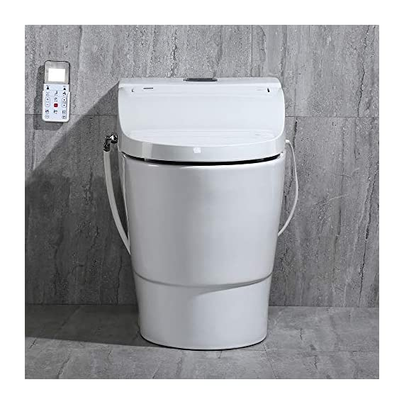 WOODBRIDGE Toilet & Bidet Luxury Elongated One Piece Advanced Smart Seat with Temperature Controlled Wash Functions and Air Dryer, Toilet with Bidet, Bidet & Toilet T-0737 9 <p>✅Include WOODBRIDGE one-piece toilet and luxury bidet seat. Bidet seat fits the toilet perfectly ✅Modern design: sleek, low profile skirted elongated one-piece toilet, comfort height, water sense, high-efficiency ✅Hygiene: posterior wash, feminine wash, pulsating wash, adjustable water pressure, hygienic filtered water ✅Comfort: water heater, warm air dryer, unlimited warm water, heated seat (5 adjustable temperature), with oscillating and gentle massage pulse functions ✅Convenience: safety on/off sensor, self-cleaning nozzles with stainless steel material. Quick release seat for easy cleaning. Energy save mode design ✅ 2-year limited manufacture</p>