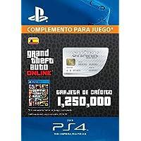 Grand Theft Auto Online - GTA V Cash Card | 1,250,000 GTA-Dollars | Código de descarga PS4 - Cuenta Española