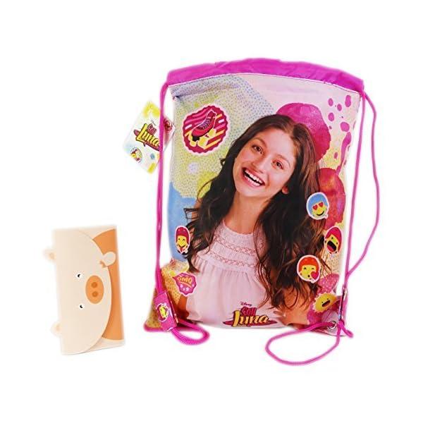 51muGswfWwL. SS600  - Disney Soy Luna Icons Mochila Bolso Saco Escolar Tiempo Libre Rosa