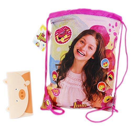 51muGswfWwL - Disney Soy Luna Icons Mochila Bolso Saco Escolar Tiempo Libre Rosa