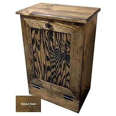 Sawdust City Tilt-Out Wooden Trash/Recycle Bin Holder (Walnut Stain)
