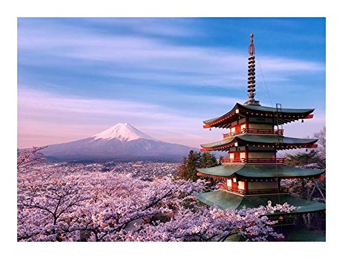 URG Monte Fuji Rompecabezas for Adultos Japón Paisaje Puzzle Pieces 500/1000/1500/2000/3000/4000/5000 Desafiando Juguetes educativos Decoración Pared del Arte URG