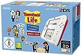 Nintendo 2DS + Tomodachi Life - videoconsolas portátiles (Nintendo 2DS, Rojo, Color blanco, LCD, D-pad, Hogar, Start, Tomodachi Life, SD)