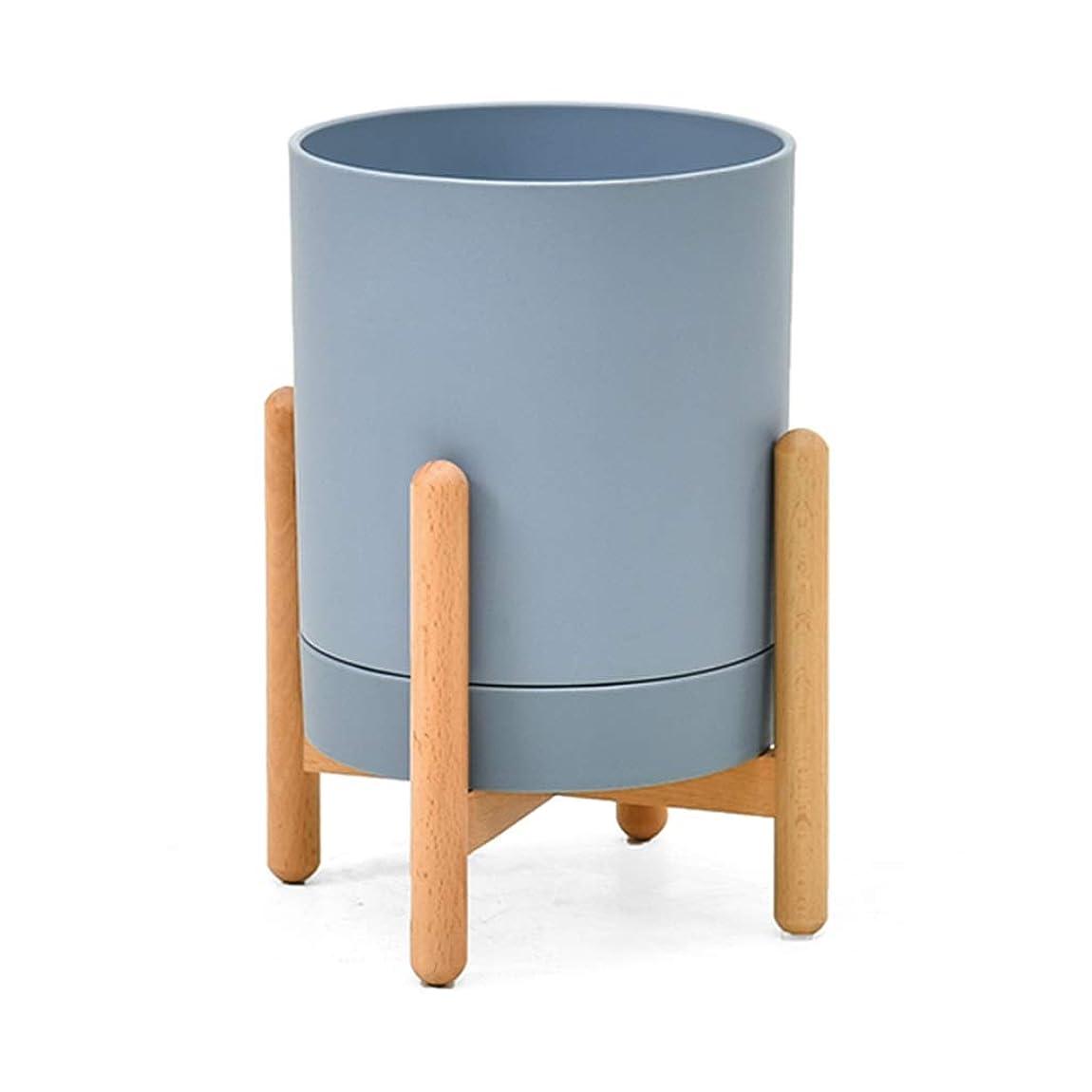 パリティ制裁ディスカウント木製テーブルトップ植物スタンドミニ植木鉢ホルダー多肉植物サボテン小さな植物ホームオフィスデスク装飾 (Color : Blue)