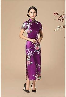 Traditional Chinese Dress Retro Mandarin Collar Cheongsam Oversized Long Slim Cheongsam 3Xl 4Xl 5Xl 6Xl