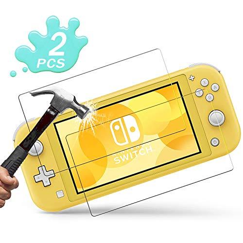 Migimi Protector de Pantalla para Nintendo Switch Lite, [2 Piezas] Cristal Vidrio Templado para Nintendo Switch Lite