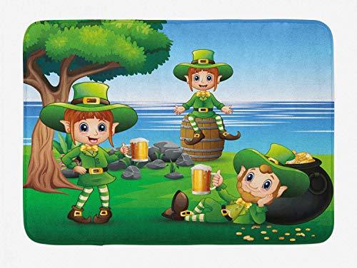Aliyz Personaggio dei cartoni animati irlandese con boccale birra accanto alla cultura foresta tappetino bagno antiscivolo tappetino port in flanella adatto bagno soggiorno camera letto cucina