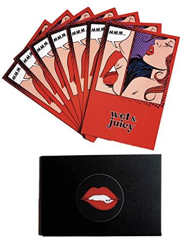 wet & juicy Sex Gutscheine für Mann & Frau als Rubbellos - Geschenk zum Jahrestag - Sexgutscheine für Paare