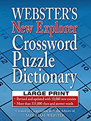 commercial New crossword dictionary by researcher Webster BIGPRINT crossword puzzle dictionary
