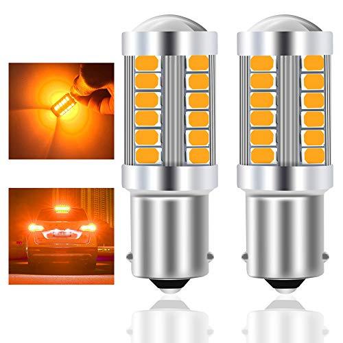 Teguangmei 1156 BA15S P21W 7506 Bombilla LED Ámbar Para Coche 900LM Brillo Ultra Alto 5730 33-SMD Bombilla LED Para Señal de Giro Delantera y Trasera de Coche 12-30V 3,6 W-2 piezas