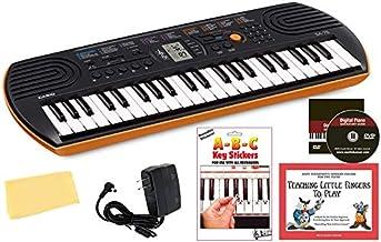 Casio SA-76 Mini Keyboard Bundle with Power Supply, Removeab
