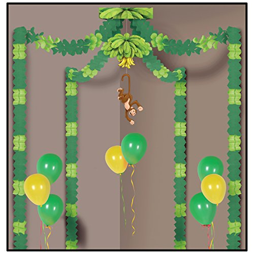 Beistle Monkey Jungle Party Canopy - 1 Pc, Multicolored