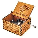 Cosplaystudio - Caja de música con melodía de Juego de Tronos, madera clara, gran regalo para los verdaderos fans