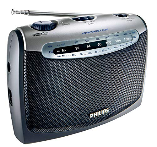 Philips AE2160 04 Radio portátil (plateado con negro)