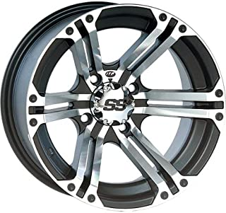 ITP SS ALLOY SS212 Black Wheel with Machined Finish (14x6