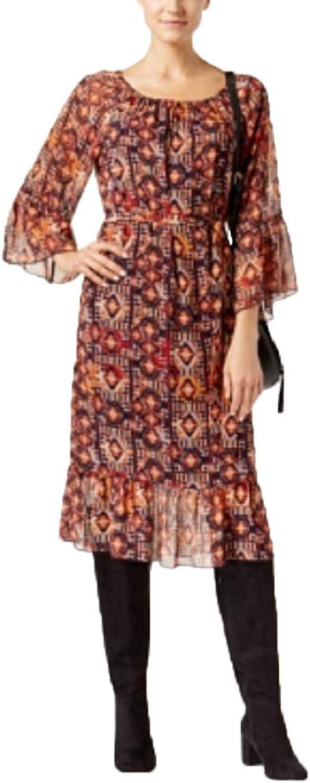 I.N.C. International Concepts Women's Petite Printed Peasant Dress