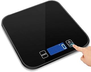 Báscula Digital de Cocina Báscula Multifuncional de Alimentos para Carne, con Pantalla LCD retroiluminada Peso de Laboratorio para cocción de cocción en la Cocina, 15 kg / 0.1 oz,Black