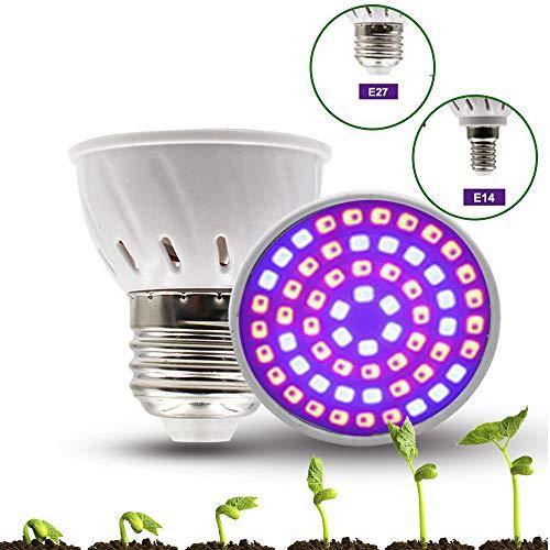Bweele LED Pflanzenlampe Vollspektrum,LED Wachsen Licht Pflanze Glühbirne Lampe Wachstum Gemuesegewaechs Pflanzenlampen Wachstum Tageslicht Pflanzenleuchte für Indoor Blume Pflanzen