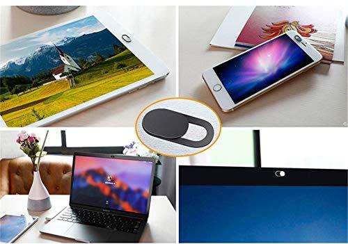 Webcam Abdeckung Cover, 0.7mm Ultra dünne Schwarze Slider Sticker Frontkamera Abdeckung für Computer Laptop, MacBook Pro, Smartphone, PC, Handyzubehör -Schutz Ihrer Privatsphäre Online (6 Stück)