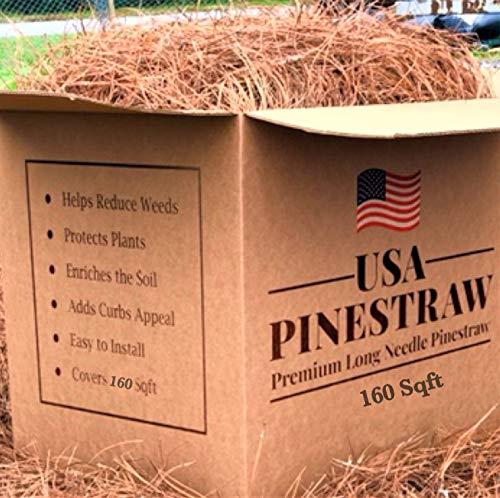 USA Pine Straw - Premium Pine Needle Mulch - Covers 160 Sqft