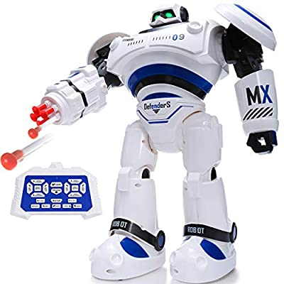 SGILE RC Robot Toy, Programmable Intelligent Walk Sing Dance Robot for Kids Gift Present, White