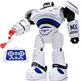 SGILE Robot Giocattolo Bambini, Grande Robot Telecomandato Intelligente Giocattolo con LED Luci Lampeggiante e Suoni Camminare Scivolare Sparare Ballare, Regalo di Natale per Bambino 6 Anni
