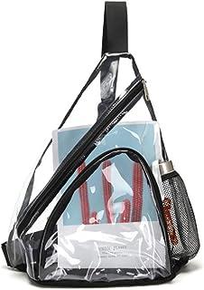 Enkrio Clear Sling Bag, Transparent Shoulder Crossbody Chest Bag Stadium Approved Backpack for Man Woman