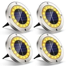 Lampe Spots Solaire Extérieur Jardin, 4Pack VIRIDI 16 LED Lumière Solar Projecteur Éclairage Exterieur IP65 Etanche Sans…