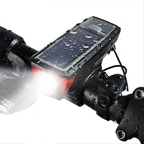 hhkty Las Luces LED de la Bici llevó la luz del USB Impermeable de la Bici Delantera Faros