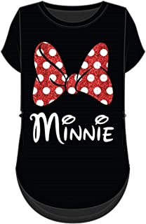 Minnie Mouse Red Sparkle Bow T-Shirt for Mom and Daughter (Women's, Extra Large)