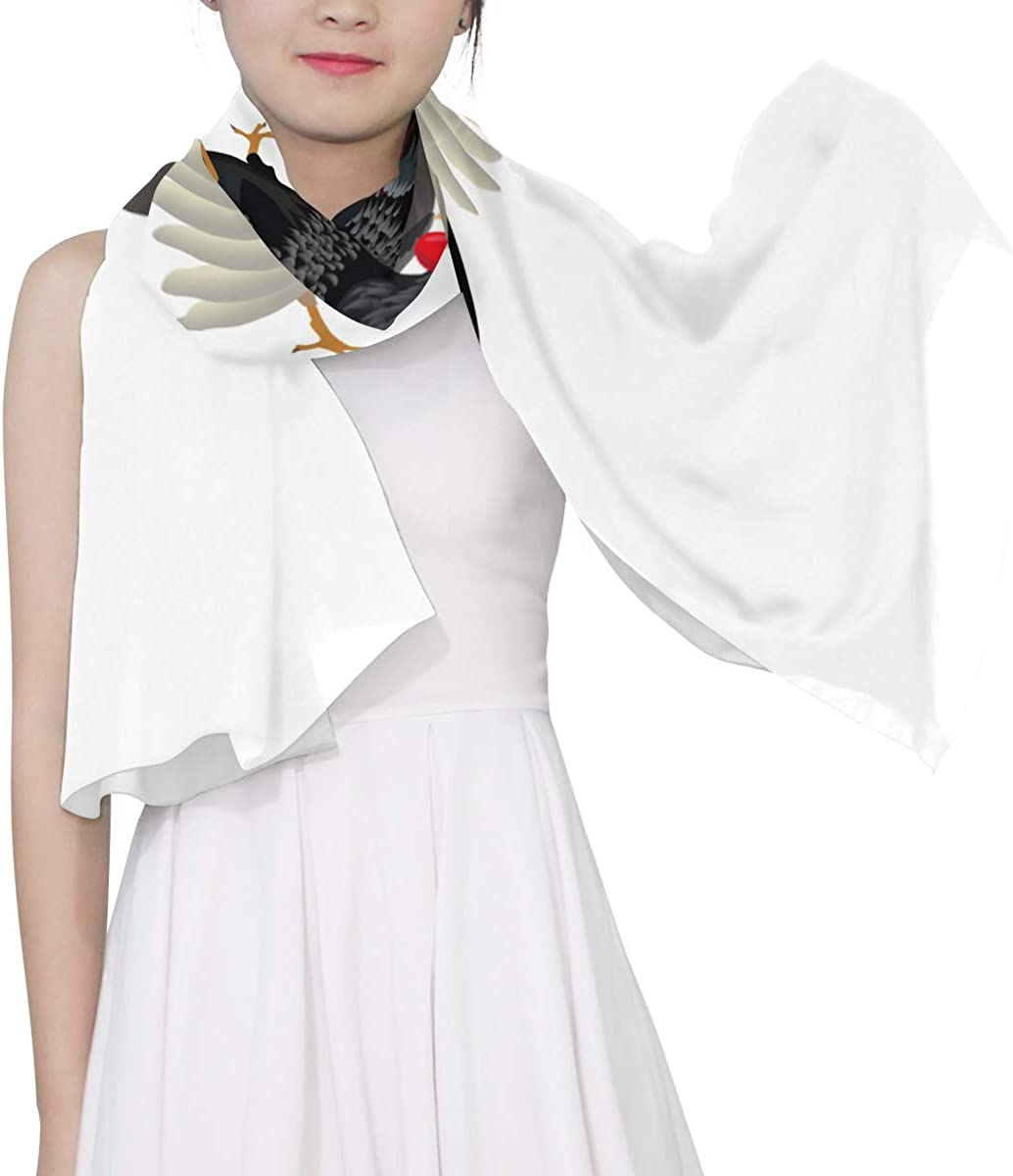 Farm Cockfighting Unique Fashion Scarf For Women Lightweight Fashion Fall Winter Print Scarves Shawl Wraps Gifts For Early Spring