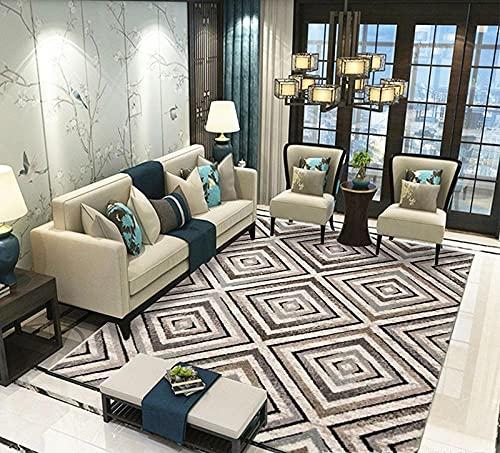 DLSM Salón Moderna Varias Dimensiones,Home Jewelry Quality Grit Gradient Line Soft Decorative Carpet-160x230cm