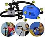 MARJI&ANUVRUTTI 650W Electronic Spray Paint Zoom Sprayer Machine with Multiple Accessories (Blue/White)
