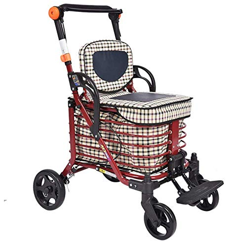 shopping cart Wandergestell, Einkaufswagen für Senioren, Trolley, Gehhilfe, Senioren-Allrad-Einkaufswagen,B