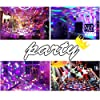 Disco Ball Party Lights Portable Rotating Lights Sound Activated LED Strobe Light 7 Color with Remote and USB plug in for Car Home Room Parties Kids Birthday Dance Wedding Show Club Pub Xmas #3
