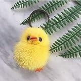 Familienkalender Llavero mullido amarillo con forma de pollito de 5 cm | Gücken, regalo | Erpel | pollo | gallo