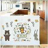 Habitación Infantil De Dibujos Animados Decoración De Pared De Jardín De Infantes Etiqueta Engomada Del Oso Garland Conejito Abeja Etiqueta Impermeable 40X60Cm