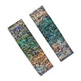 RECHERE 2pcs Knife Handle Scale Slabs Acrylic Abalone Shell Pattern DIY Sword Gun Making Supplies...