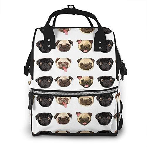 Mochila para pañales, multifuncional, para viaje, para guardar pañales, mochila para pañales para bebés, gran capacidad y resistente al agua, diseño elegante, bonito y divertido perro