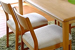 ISSEIKI ダイニングチェア チェア 2脚セット 北欧 木製 アルダー 椅子 背もたれ付き シンプル 天然木 無垢 おしゃれ (ベージュ) ERIS DINING CHAIR 2SET (BE)