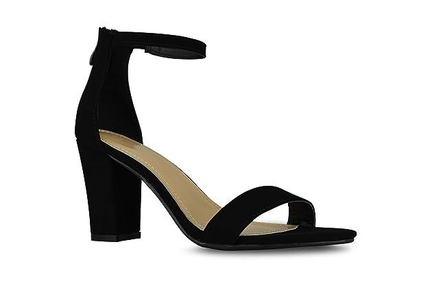 b7195e47a66 Premier Standard Women s Strappy Chunky Block High Heel - Formal