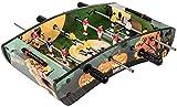 Piarner Personalidad creativa calabaza pintada fútbol de la tabla de cuatro barras de doble mesa de futbolín en niños juguetes mesa de juego entre padres e hijos interactivo portátil conjunto de Futbo