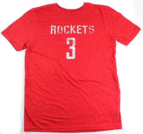 クリス・ポール・ヒューストンRockets # 3NBA YouthトリブレンドDistressed Player Name & Number Tシャツ S レッド