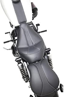 Saddlemen Dominator Solo Seat with Backrest Option - Smooth SaddleHyde 896040042