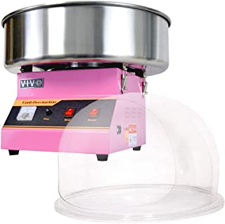 VIVO Pink Electric Commercial Cotton Candy Machine/Candy Floss Maker with Bubble Shield CANDY-KIT-1